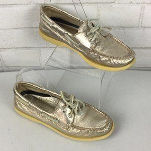 Sperry Topsider Vida Metallic Boat Shoe Size 6M
